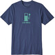 Patagonia M's Live Simply Power Responsibili-Tee Dolomite Blue
